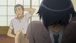 麻奈美の爺ちゃんと京介
